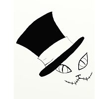 Cheshire Cat in the Hat Photographic Print