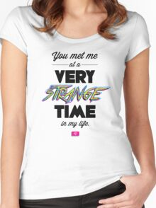 Very Strange Time (Fight Club) - Quote Series (On White) Women's Fitted Scoop T-Shirt
