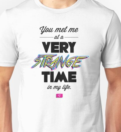 Very Strange Time (Fight Club) - Quote Series (On White) Unisex T-Shirt
