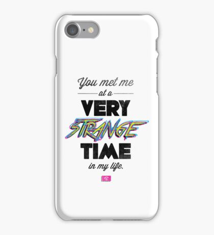 Very Strange Time (Fight Club) - Quote Series (On White) iPhone Case/Skin