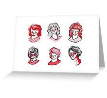 Brushpen Faces Greeting Card