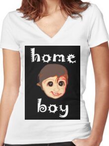 HOME BOY Women's Fitted V-Neck T-Shirt