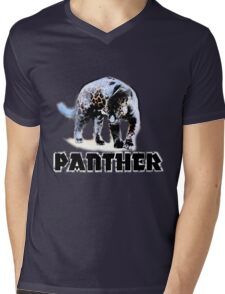 Big Cat Mens V-Neck T-Shirt