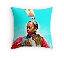 """Dancing to """"The Crow Hawk Song"""" Throw Pillow"""