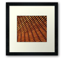 Spanish Style Tile Abstract Framed Print