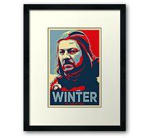Ned Stark - Winter Is Coming Framed Print