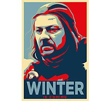 Ned Stark - Winter Is Coming Photographic Print