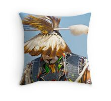 To walk the Powwow trail is both honor and duty Throw Pillow