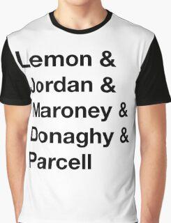 30 Rock Cast Names Graphic T-Shirt