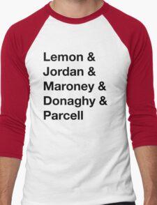 30 Rock Cast Names Men's Baseball ¾ T-Shirt