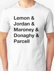 30 Rock Cast Names Unisex T-Shirt
