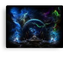 Galactic Ocean Waves Canvas Print