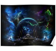 Galactic Ocean Waves Poster