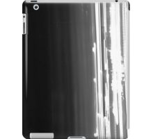 Iight Painting of  Car Lights At The Speed of Light black and white iPad Case/Skin