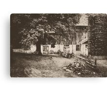 Down the road, Around the bend Canvas Print
