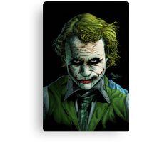 Heath Ledger Joker Print Canvas Print