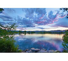 Coot Lake View Photographic Print