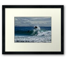 Air Time - Snapper Rocks Framed Print
