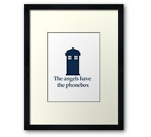 Doctor Who - The angels have the phonebox Framed Print