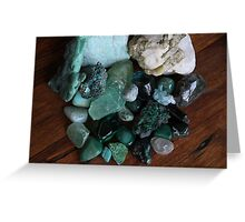 Crystals: The Green Collection Greeting Card
