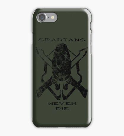 Spartans Never Die iPhone Case/Skin