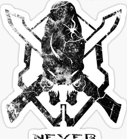Spartans Never Die Sticker