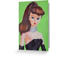 Brunette Barbie Greeting Card