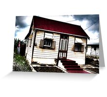 Red Roofed Chattel House Greeting Card