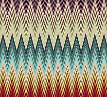 Zig Zag Striped Patterns by LABELSTONE