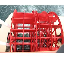 The Red Paddlewheel on the Boat Photographic Print