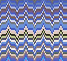 Missoni Blue Zig Zag Pattern by LABELSTONE