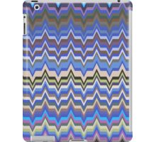 Blue Hues Zig Zag Patterns iPad Case/Skin