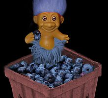 ✾◕‿◕✾ TROLL LOVING BLUEBERRIES CARD/PICTURE✾◕‿◕✾ by ╰⊰✿ℒᵒᶹᵉ Bonita✿⊱╮ Lalonde✿⊱╮