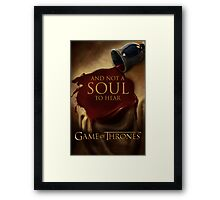 And Not A Soul To Hear Framed Print