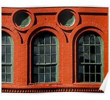 Red Brick Curves Poster