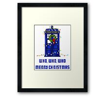 Who, Who, Who, Merry Christmas  Framed Print