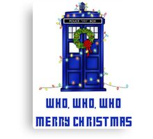 Who, Who, Who, Merry Christmas  Canvas Print