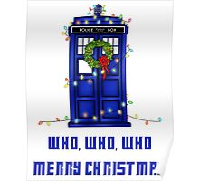 Who, Who, Who, Merry Christmas  Poster