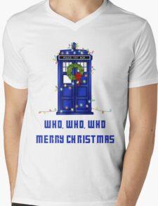 Who, Who, Who, Merry Christmas  Mens V-Neck T-Shirt