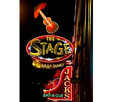 The Stage in Nashville Photographic Print