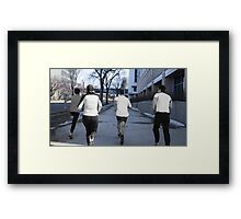 Chilled Cement Framed Print