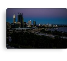 Perth at night Canvas Print
