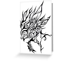 Tribal Wicked Clown Greeting Card