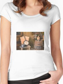 Vintage scene Women's Fitted Scoop T-Shirt