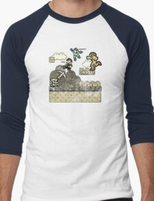 Mega Man Joins The Battle! Men's Baseball ¾ T-Shirt