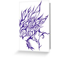 Purple Tribal Wicked Clown Greeting Card