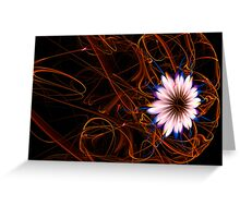 """""""Flower for a lady"""" - fractal card Greeting Card"""