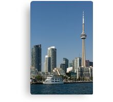 Up Close And Personal - Toronto's Skyline From The Harbour Canvas Print