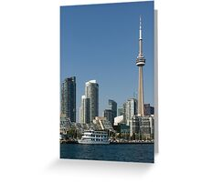 Up Close And Personal - Toronto's Skyline From The Harbour Greeting Card
