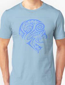 Blue Tribal head T-Shirt
